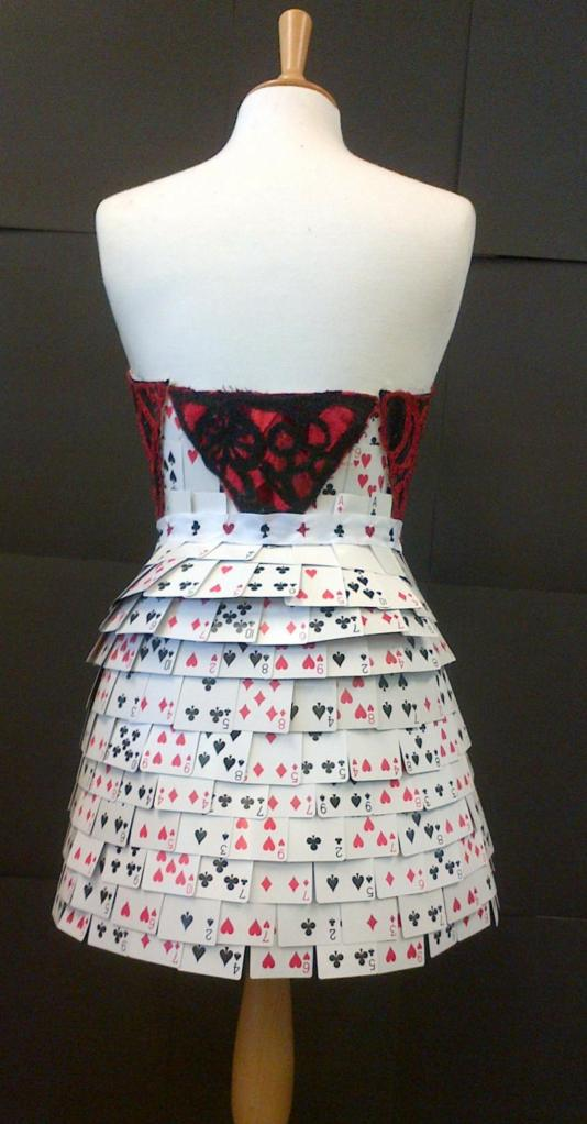 Back view of dress