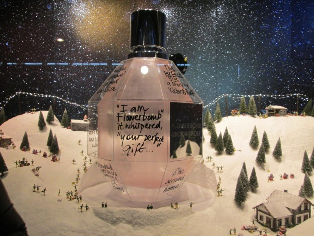 Selfridges - oh imagine owning a giant bottle of flower bomb perfume this size?