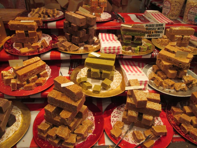 Fudge on sale at the Christmas Market.