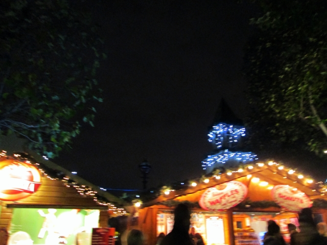 Festive atmosphere at the South Bank Market.
